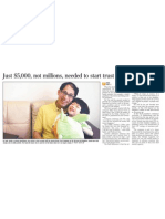 Just $5000, not millions, needed to start trust fund, 30 Oct 2009, Straits Times
