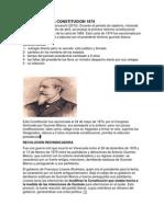 Aspectos de La Constitucion 1874