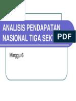 Sep 204 Slide Minggu Ke - 06 Analisis Pendapatan Nasional Tiga Sektor