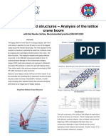 Offshore Latticed Structures - Analysis of the Lattice Crane Boom