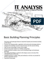 Site Analysis and Planning From Buildings to Regional