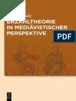 [Armin Schulz] Erzähltheorie in Mediävistischer