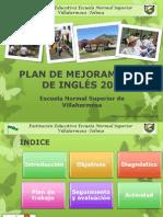 Plan de Mejoramiento del componente de inglés