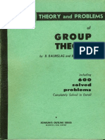 Schaum's outline Series on GroupTheory