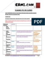 Syllabus for Banks Po or Clerks for Ibps Clerks by Www.gr8dreamz.com