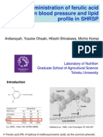 Oral administration of ferulic acid on blood pressure and lipid profile in SHRSP