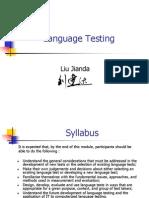 Language Testing (PPT)