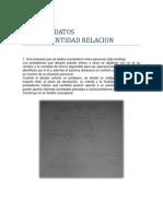 Ejercicios Modelo Entidad-relacion