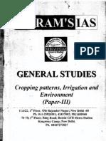 s Cropping Patterns, Irrigation & Envionment Papar --III