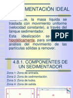 Sedimentación Ideal