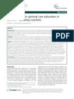 Developments in Spiritual Care Education in German