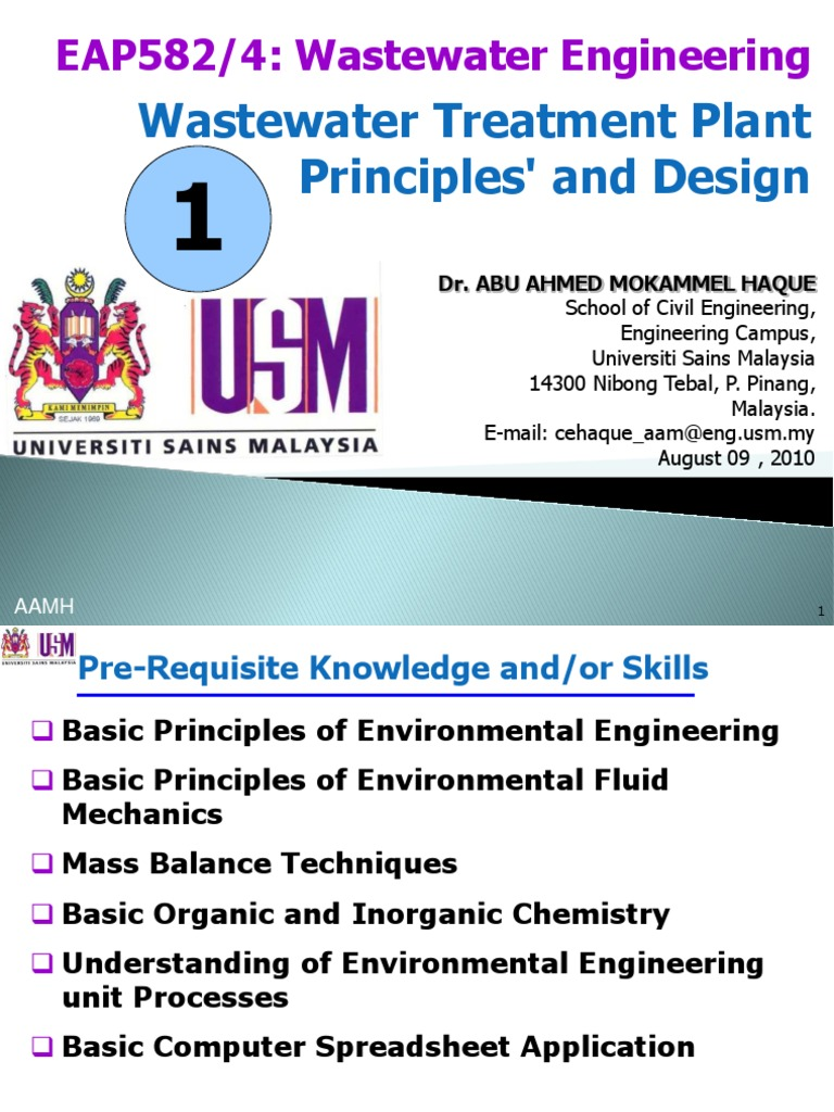 WasteWater Engineering Treatment Principles and Design ...