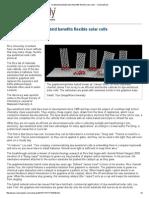Graphene_nanotube Hybrid Benefits Flexible Solar Cells -- ScienceDaily