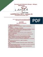 LAMPEA-Doc 2014 – numéro 36 / Vendredi 28 novembre 2014