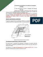 Visualización de Los Fenómenos de Ebullición en La Abertura Rectangular Inclinado