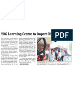 Centre opens for youths to learn about Olympic spirit, 31 Oct 2008, My Paper