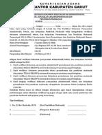 Ijin Operasional Madrasah Format PM07