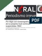 27-11-2014 Central Ct - Por Litigio Con Oceanografía, Obras de La Autopista Audi Continúan Suspendidas, RMV