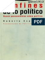 Esposito Roberto - Confines de Lo Politico - Nueve Pensamientos Sobre La Politica