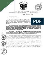 RJ Nº 458-2002-InRENA(Díametros Mínimo de Corta)