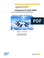OpenSAP a4h1 Week 4 Source Code