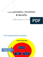 Session 17 and 18 - Compensation, Incentives
