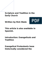 Scripture and Tradition in the Early Church