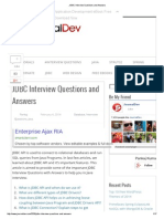 JDBC Interview Questions and Answers