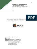 PROJETO DE PROCESSOS ADMINISTRATIVOS I