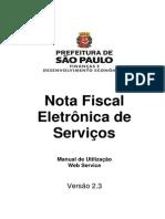 NFe Web Service v2.3 PMSP