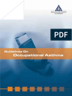 Guidelines on Occupational Asthma