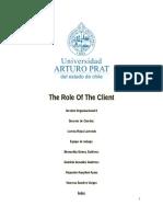 Informe de El Rol Del Cliente