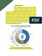 Estado Actual de La Energía Eólica 2014