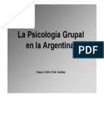 La Psicología Grupal