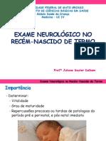 Exame Neurológico Recém-Nascido - PDF
