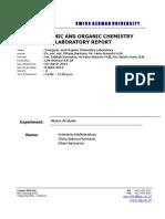 Water Analysis - Lab Report