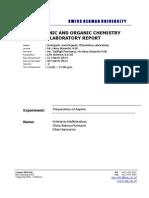 Aspirin - Lab Report