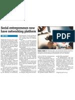 Social entrepreneurs now have networking platform, 21 Oct 2009, MyPaper