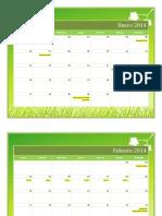 Calendarización Escuela Bíblica