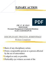 Procedure for Disciplinary Action - Without Transitions
