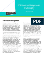 ed 312 - classroom management philosophy fnl