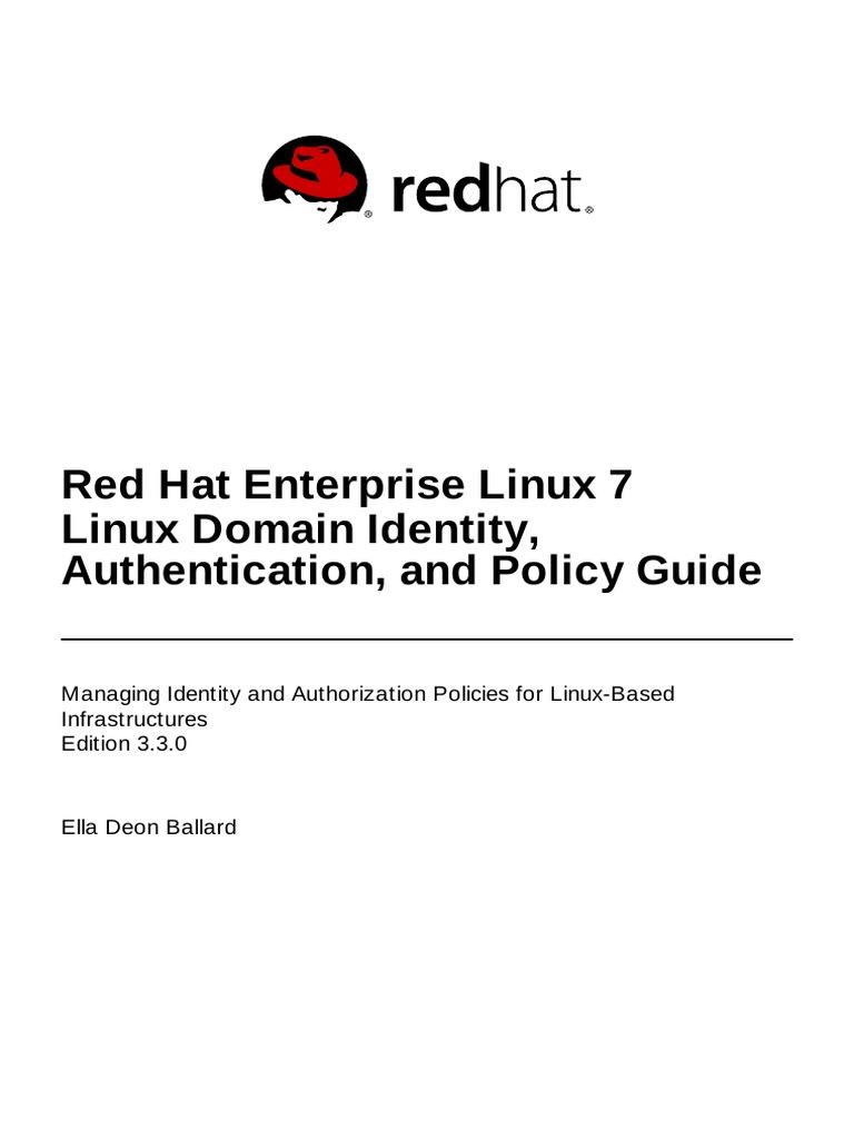 Red Hat Enterprise Linux-7-Linux Domain Identity