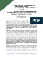 Montañez Revolu. Haitiana y Constitucionalismo. Raza.