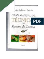 Gran Manual de Tecnicas Del Maestro de Cocina
