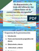 """(Silencio y Cortesía) """"Sobre la descortesía y la anticortesía del silencio"""