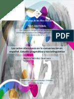 Tesis doctoral sobre el silencio en la conversación (estudio pragmático y sociolingüístico)