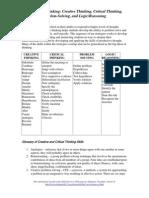 Creative Critical Thinking Handout
