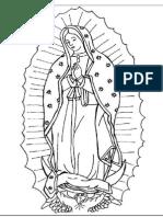 dibujo para imprimir de la Virgen Guadalupe