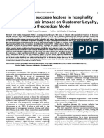 Researchpaper TQM Critical Success Factors in Hospitality Industry and Their Impact on Customer Loyalty, A Theoretical Model