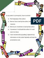 author poster checklist